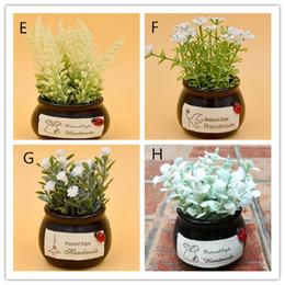 ornamento di vaso di fiori Sconti Simulazione bonsai decorativi fiori artificiali falso verde pot piante ornamenti decorazioni per la casa