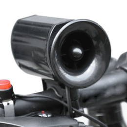 Wholesale horn sounds free - Wholesale-New Loudly 6 sound loop Black Bicycle Electronic Bell Alarm Siren Horn Loud Speaker free shipping