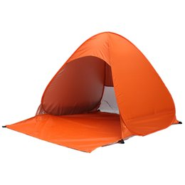 Wholesale Single Person Beach Tent - Wholesale- Outdoor Waterproof ultralight polyester fabrics 2-3 Person UV protection tent Travel Camping Hiking automatic beach fishing tent