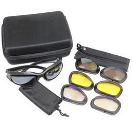 Wholesale Hunting Sunglasses - C5 Military Tactical Goggles Hunting Shooting Glasses Outdoors 100% UV Camping Hiking Sunglasses Eyewear