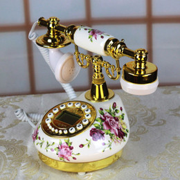 Wholesale Carved Bedroom Sets - push-button type Zhengpin ceramic telephone set machine, lovely family archaize fashionable rural creative retro European calls explicit