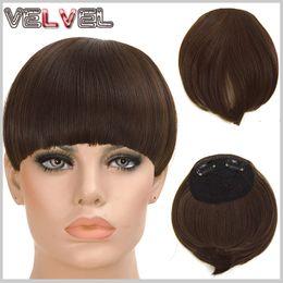 Wholesale Sexy Clips Woman - Wholesale-Sexy Women Synthetic Bangs False Full Bangs Hair Pieces Extensions De Cheveux Pour Frange Clip in Fringe Bangs VELVEL