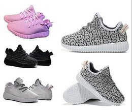Wholesale Lace Shoes Booties - kids West 350 Boost sneakers baby Boots Shoes Running Sports Shoes booties toddler shoes cheap Sneakers Training 989