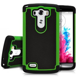 Wholesale Lg G2 Armor Cases - Cheaper Rugged Durable Impact Shockproof Resistant Double Layer Cover Hard Shell & Silicone Armor Case for LG G2 G3 G4 drop shipping