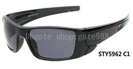 Wholesale Rainbow Framed Glasses - Luxury Men's fuel cell Black Frame  rainbow Lens sunglasses sport sun glass Free Shipping 10pcs lot