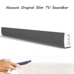 Wholesale Coaxial Speakers - Wholesale- LONPOO Cheapest TV Soundbar Bluetooth Speaker 40W Deep Bass Subwoofer Home theater TV Soundbar with Optical Coaxial for LED TV