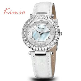 Wholesale Kimio Ladies Watches - JW742 Kimio Brand Bling Diamonds Rhinestone Luxury Ladies Dress Watch Women Fashion Wristwatch Gifts
