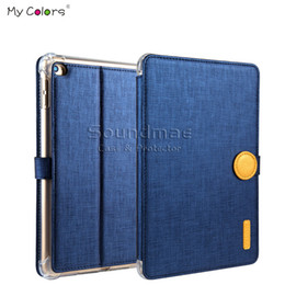 Wholesale China Blue Leather Bag - My Colors iPad 2 3 4 Air 2 iPad 5 6 Retro Solid Magnet Clasp Flip Cover PU Leather Kickstand Case With Card Slots iPad Air OPP BAG