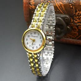 Wholesale Elegant Wrist Watch - Fashion Chaoyada elegant Women girl quartz exquisite silver gold Metal steel strap Bracelet wrist watch 902