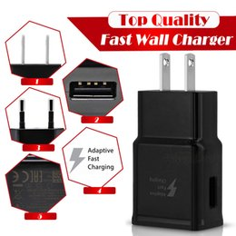 Wholesale Uk Plug For Apple Charger - Fast USB Wall Charger Adapter Charging 5V 2A or 9V 1.67A EU US Plug Travel Universal For S8 S7 S6 edge Note 4 5 8