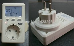 Wholesale Voltage Europe - Wholesale-EU(Europe+Germany +France) WF-D02A Saving Energy Wanf Mini WATT Electricity Power Energy Usage Ammeter Meter Monitor AC Voltage