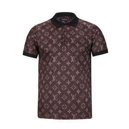 Wholesale Newest Short Dresses - Italy Newest Fashion Wave Of Men 3D Floral Print Luxury Brand Clothing Harajuku Casual Polo Shirts Short Sleeve Men,Medusa Business Men's