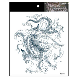 Wholesale Cheap Fake Tattoos - ragon man temporary fake tattoos stickers body art painting tattoo stickers.20.18307.Free Shipping Temporary Tattoos Cheap Temporary Tat...