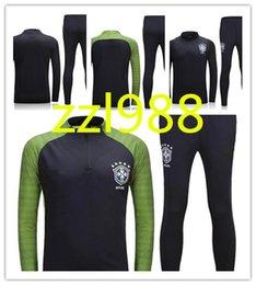 6aafcfa4c thai quality 2016 2017 brazil Soccer training suit 16 17 D.COSTA DAVID LUIZ  T.SILVA OSCAR NEYMAR JR soccer jerseys tracksuit shirts