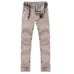 Wholesale pants gore tex xxl - Wholesale-Men Quick Drying Hiking Pants L-5XL Outdoor Sports Waterproof Long Pants Breathable Streched Ultrathin Fishing Trousers RM089