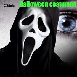 Wholesale Novelty Tricks - Clown Mask Halloween Toys Creepy Scary Mask Cosplay Full Face Horror Masquerade Trick Novelty Toy For Halloween