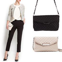 Wholesale Envelope Purse Clutch Pu - Wholesale-Fashion Women PU Leather Clutch Handbag Tote Purse Messenger Shoulder Bag Envelope Bag