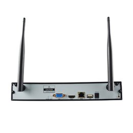 Wholesale 2ch Video - 1280*1024 HDMI VGA NVR Kit 2CH D1 Wifi Wireless DC12V 3A P2P Network Video Recorder with Smart phone Remote & 2 Camera WN-KIT-2000