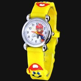 3D мультфильм прекрасные дети девочки мальчики дети студенты Супер Марио Кварцевые наручные часы очень популярны от Поставщики наручные часы для детей