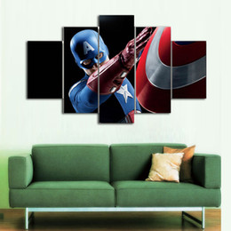 Wholesale More America - Captain America -1,5 Pieces Home Decor HD Printed Modern Art Painting on Canvas (Unframed Framed)