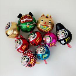 Wholesale Figurine Christmas - Japan's Bhutan Christmas Series 2017 new hot 9 Christmas decoration luck lucky evil gold pendant wholesale free shipping