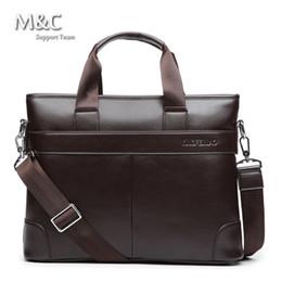 Wholesale Leather Satchel Briefcase Men - Wholesale-Hot Sale 2016 Genuine Leather Bag Handbag Men's travel bags Luxury Brand Messenger bags Men Briefcases Shoulder Bags OB-007