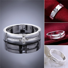 Wholesale Size Cross Ring Silver - Mix size 10 pieces 925 silver Cross Ring Free shipping GSSR560 Factory direct sale brand new fashion sterling silver finger ring