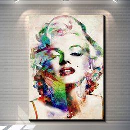 Wholesale Canvas Art Landscape - Marilyn Monroe watercolor painting pictures abstract art print on the canvas, canvas painting prints,wall Home decor poster