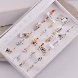 Wholesale Cheap Silver Rings Women - Mix Free Shipping Fashion Gold Silver New Cheap Gem Crystal Rhinestone Valentine's Day Gift Jewelry Women Girls Rings