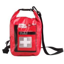 Wholesale First Outdoor - 5L Outdoor First Aid Kit Storage Bags Emergency Waterproof Bags Survival Medicine Dry Storage Bags Camping Travel Kits