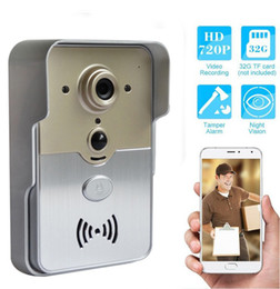 Wholesale Home Security Wi Fi - New Wi-Fi Smart Doorbell camera PIR sensor tamper alarm 720P home security CCTV wireless P2P camera for Android IOS smart phone & tablet PC