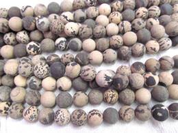 Wholesale 16mm Round Beads - 2strands 4-16mm Genuine Brown Ocean Jasper stone Round Ball matte crab grey coffee wood Japser loose beads