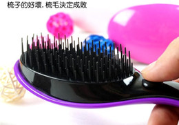 Wholesale Electric Magic Brush - Electric comb DD magic hair comb the second generation of electric massage comb comb not knot Magic shunfa a comb Salon HOT sale