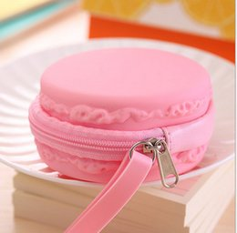 Wholesale Novelty Jewelry Boxes - Mini Macaron Candy Storage Box Organizer For Jewelry Sundries Silicone Storage Boxes Bins For Earphone Wire Zakka Gift Novelty
