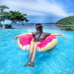 Wholesale Inflatable Pvc Toys For Kids - Wholesale new Donut Swimming Float Inflatable Swimming Ring 60cm Swimming pool for children Life buoy Beach Toys Summer toys