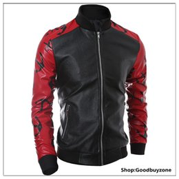 Wholesale Cool Windbreaker Jackets - Fall-2016 HOT New Men Leather Jacket Male Cool Coat Motorcycle style Jacket Constrast Color Jacket WindBreaker Coat Freeshipping