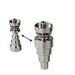 Wholesale Nail Using - New 6-in-1 Domeless Titanium Nail Grade 2 nail 6-in-1 for 10mm 14mm 18mm Female and Male jiont use