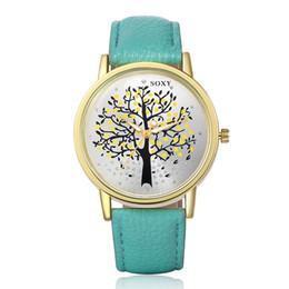 Wholesale Buckle Tree - Brand Soxy New Women Watches Fashion & Casual Luxury Leather Watch tree printed Elegant Wristwatch high quality relojio Hot Sale!