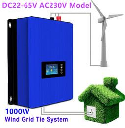 Wholesale Grid Tie Inverter Wind Lcd - 1000W Wind Power Grid Tie Inverter DC22-65V AC230V with LCD display