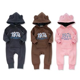 Wholesale Warm Infant One Piece Clothing - Baby Rompers Autumn Winter Baby Clothes Zipper Warm Newborn Clothing Infant Clothes One Piece Jumpsuit JY019