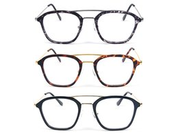 Wholesale Prescription Reading Glasses - TR+Metal Material Plain Glass Spectacles Frame Working Reading Prescription Glasses Frame Fashion Eyewear Frames