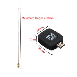 Wholesale Usb Dvb T Tuner - 2017Wholesale Newest Mini Digital DVB-T Micro USB Mobile HD TV Tuner Stick Receiver for Android 60P5