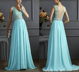 Wholesale Long Applique Panel Evening Gown - Women Appliques Lace Prom Tulle V Neck Beaded Crystals Mermaid Ball Gown Party Evening Long Dress