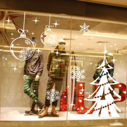 Wholesale Chritmas Tree - Chritmas Tree Wall Stickers for Christmas Decorative Wall Cecal Xmas Home Decoration Window Display Removable Wallpaper Product Code:90-2010