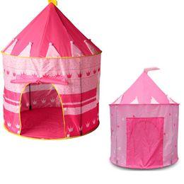 2019 mädchen spielen zelte Großes rosa Prinzessin-Zelt-nettes Kind-Spiel-Haus-schönes Spiel-Zelt-hübsches Innen- und Spiel-Zelt im Freien, Mädchen-Weihnachtsgeschenk günstig mädchen spielen zelte