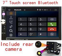 Wholesale Double Screen Mobile - Autoradio Universal Quad Core 7'' Double 2 Din Car DVD Bluetooth Audio Stereo Radio