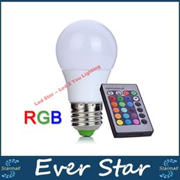 LED RGB Light 3W 5W 10W 15W 20W E27 LED Bulbs Lamp Colorful Christmas Lights Home Decoration AC 85-265V + IR Remote Controller Deals