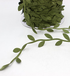 Wholesale Cheap Fake Silk Flowers - Wholesale- Cheap 5 Meters Silk Artificial Leaf Leaves Flower For Wedding Decoration DIY Scrapbooking Decorative Wreath Fake Flowers