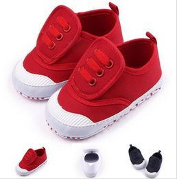 Wholesale China Baby Pvc Shoes - 2016 Autumn kids canvas shoes,red white blue toddler Casual shoes,0-18 M cheap baby shoes,china boys shoes!9pairs 18pcs.ZH
