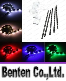 Wholesale Green Led Light Strip Auto - new arrivals 30CM 12 LED 3528 SMD Waterproof Flexible Strip Tape Light Car Auto Decor Lamp Battery Operated White Red Blue Green LLFA